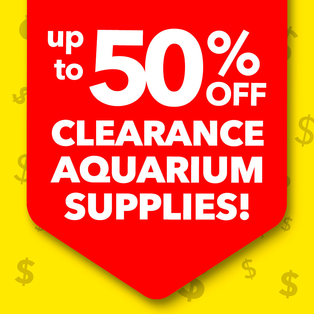 Aquarium Supply Clearance